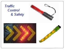 Traffic Control Wands & Traffic Safety LED Chevrons